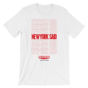 New York Said: Thanks