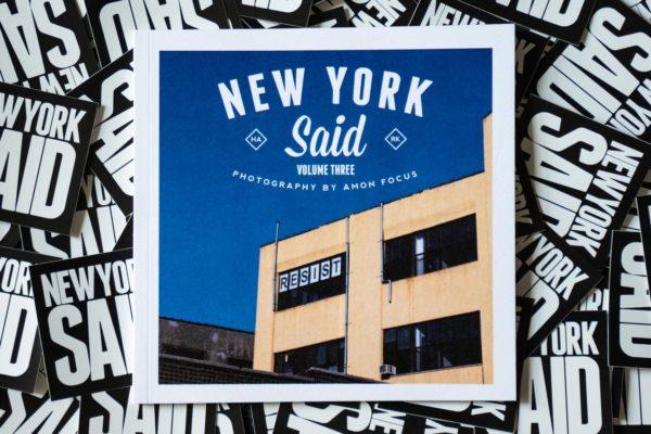 New York Said: Volume Three