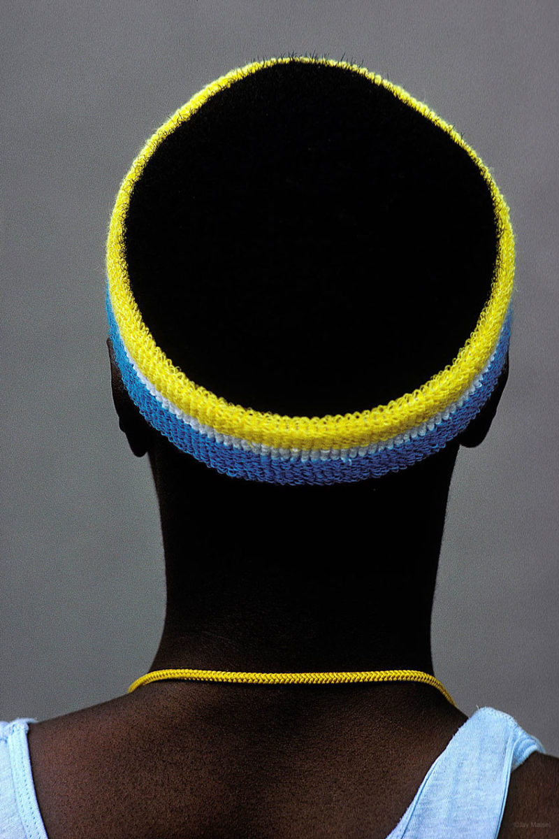 'Man with Headband' photography by Jay Maisel