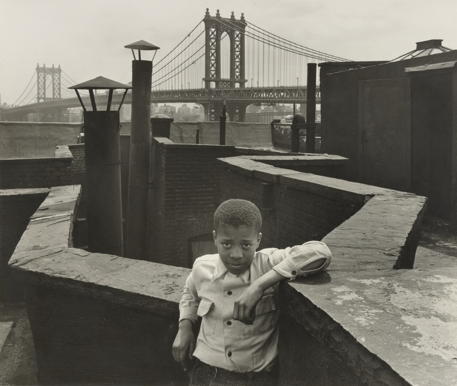© Walter Rosenblum, Boy on Roof, Pitt Street, New York, 38