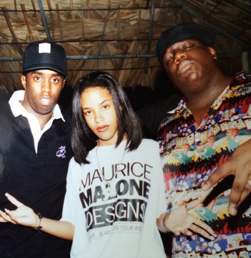 "Sean ""Puff"" Combs, Aaliyah and Big"