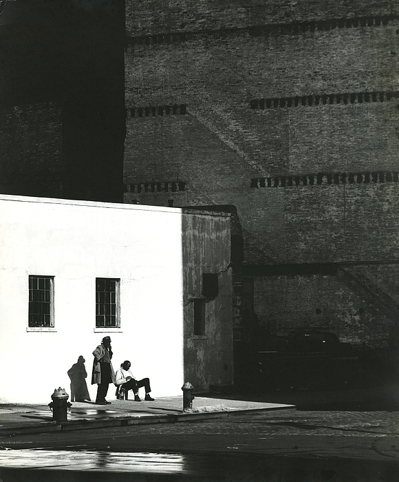 © Erik Falkensteen, Two Men and a Shadow, Lower Manhattan near the Hudson River