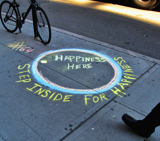 Happiness Here Street Art 64NYC