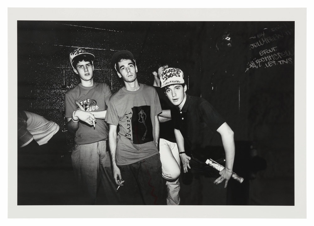 Beastie Boys backstage after a gig, August 1983. © Sophie Bramly