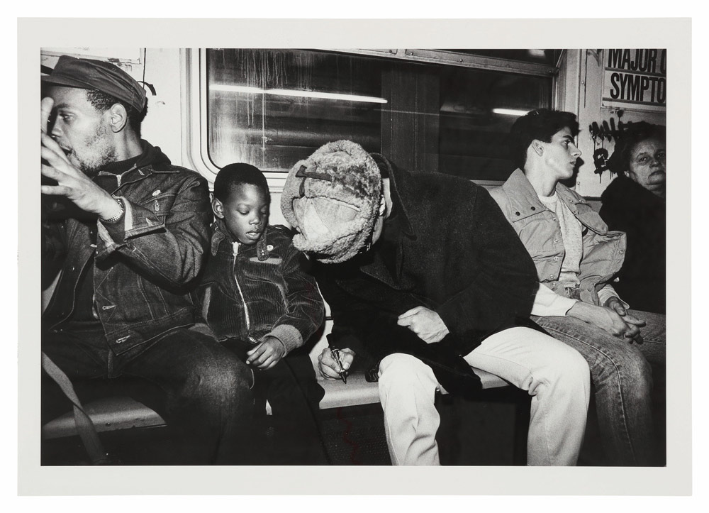 Futura in the subway, July 1983. © Sophie Bramly