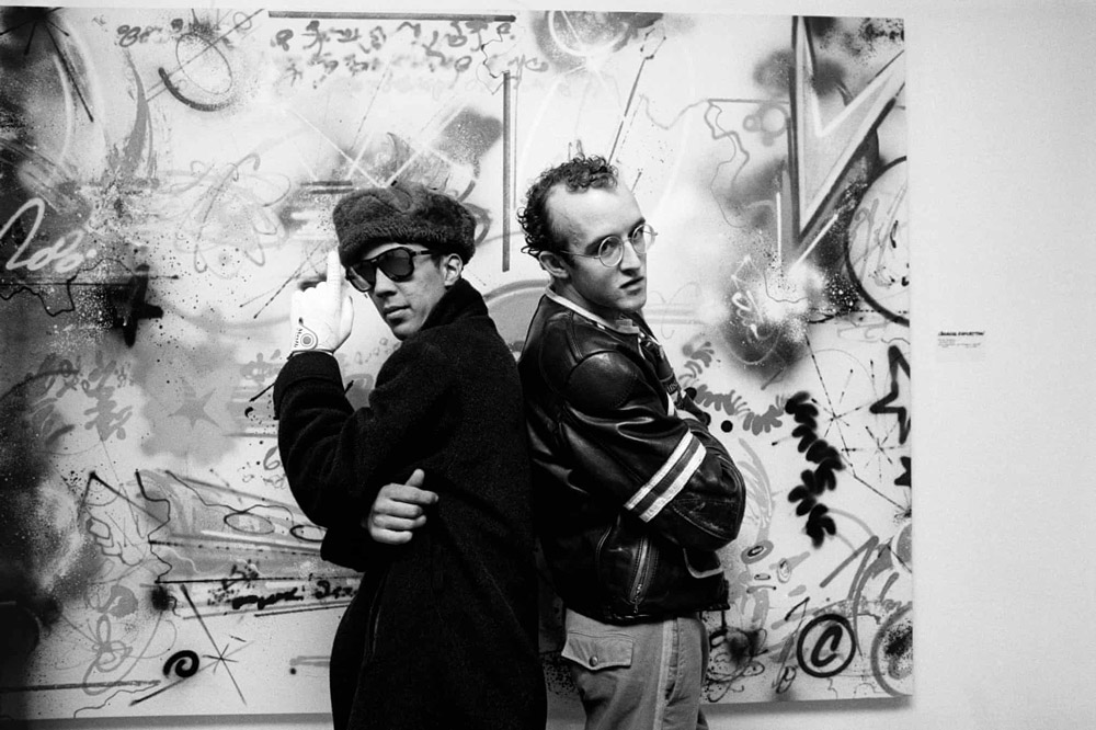 Futura on his opening night at Fun Gallery with Keith Haring, 1983. © Sophie Bramly