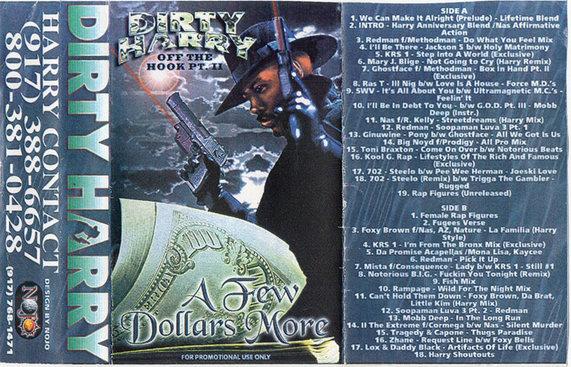 A Few Dollars More, Cassette Mixtape Cover, Scanned from the Amon Focus Mixtape Collection